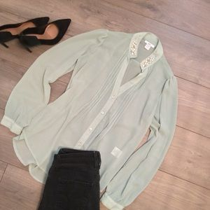 bar lll sheer blouse